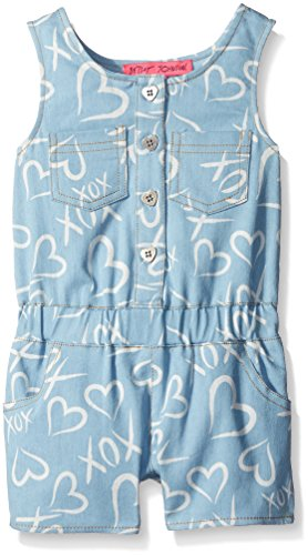 Price comparison product image Betsey Johnson Little Girls' Romper XOX, Denim, 6