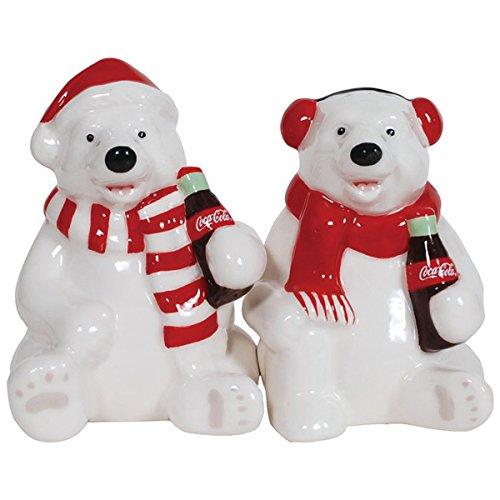 Westland Giftware Magnetic Ceramic Salt and Pepper Shaker Set, Holiday Polar Bears, Multicolor