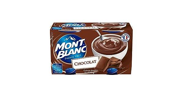 Mont Blanc - Crema Postre De Chocolate 4X125G - Crème Dessert Chocolat 4X125G - Precio Por Unidad - Entrega Rápida: Amazon.es: Alimentación y bebidas