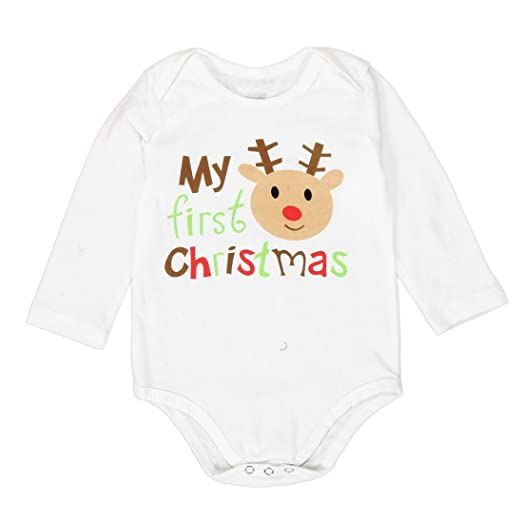 Amazon Com Clearance Sale Infant Baby Boy Girl Christmas Outfit