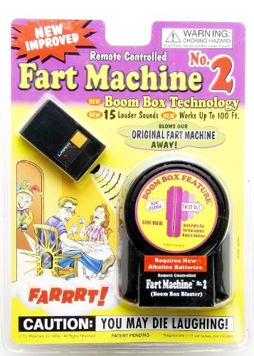 T.J. Wisemen Remote Control Fart Machine No. 2 Funny Gag Gift Joke (Halloween Party Games Uk)