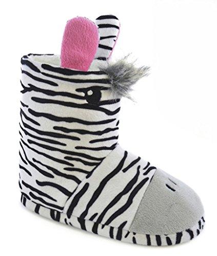 Zebra Mädchen Bootie Pantoffeln