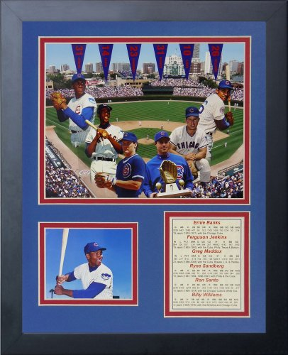 (Legends Never Die Chicago Cubs Retired #'s Framed Photo Collage, 11 by 14-Inch)