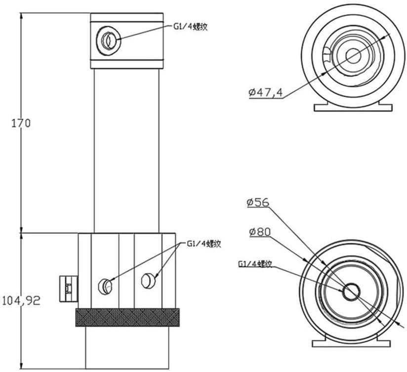 170mm Aluminum Reservoir Combo w//Armor B-NWD5+CT170 Grey Bykski D5 Pump