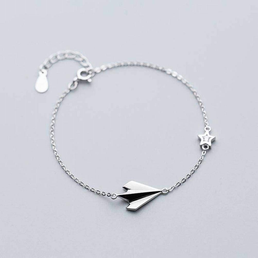 Bangles Bracelets S925 Silver Bracelet Female Fashion Aircraft Bracelet Temperament Personality Star Hand Jewelry Female LOt