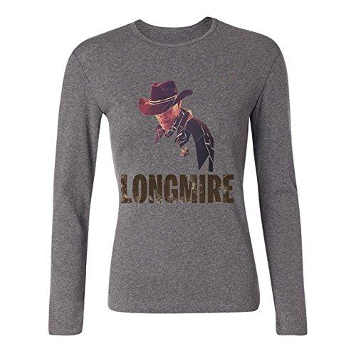 Rick Craig Halloween (LSLEEVE Women's TV series Longmire Long Sleeve T-shirt Grey)