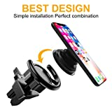 #8: COCOFU Pop Out Stand Air Vent Car Mount 360° Rotation Car Dashboard Desk Wall Mount For Pop Socket Expanding Grip Stand Users-Black