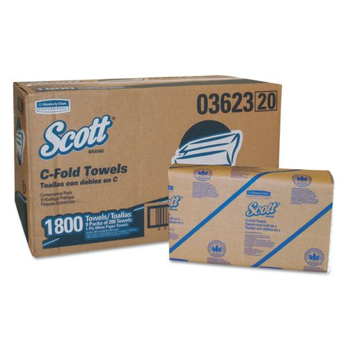Scott C-Fold Hand Paper Towels - 150 Towels per Pack [Set of 9] (Hand Multifold Towels Scott)