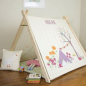 Personalised Childrenu0027s Play Tent - Gracieu0027s Garden - Designed Printed u0026 Handmade ... & Personalised Childrenu0027s Play Tent - Gracieu0027s Garden - Designed ...