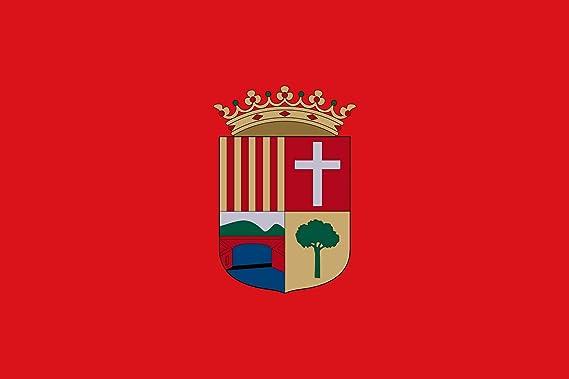 magFlags Bandera Large Alcudia de Crespins Valencia, España | Bandera Paisaje | 1.35m² | 90x150cm: Amazon.es: Jardín