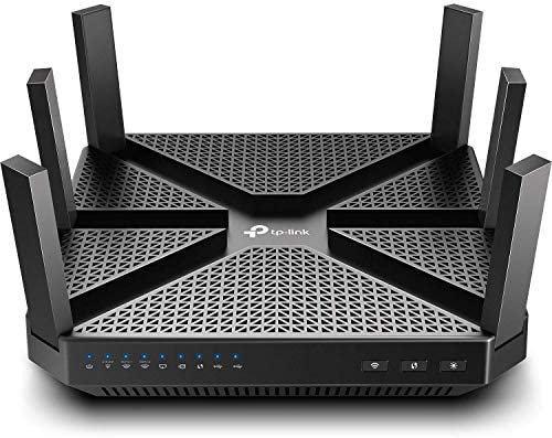 TP-Link AC4000 Smart WiFi Router - Tri Band Router , MU-MIMO, VPN Server, Antivirus/Parental Control, 1.8GHz CPU, Gigabit, Beamforming, (Archer A20),Black (Renewed)