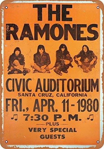 Metal Ramones (ACOVE 1980 The Ramones in Santa Cruz Vintage Look Metal Tin Sign - 10x14 inch)