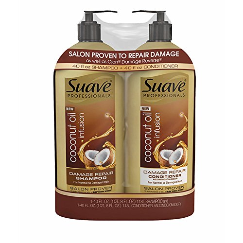 Shampoo Coconut Suave (Product of Suave Professionals Coconut Oil Infusion Damage Repair Shampoo, 40 oz. and Conditioner, 40 oz. - Hair Treatments [Bulk Savings])