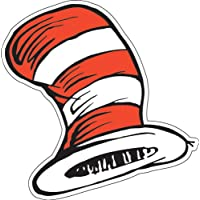 """Eureka Dr. Seuss El gato en el sombrero Recortes de papel para escuelas y aulas, 36pc, 5.5 """"W x 5.5"""" H"""