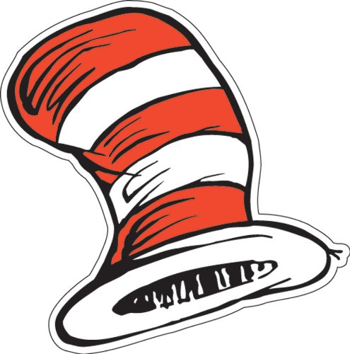 Eureka Dr. Seuss The Cat in the Hat Paper Cut Outs for Schools and Classrooms, 36pc, 5.5