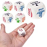 Tpingfe5Pcs Funny Home Dice Couples Families Housework Distribution Dice Fun Game Gift