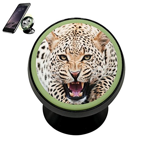 Buick Header - LLCCAR Vehicle Phone Mount Roaring Cheetah Leopard Holder Magnetic Universal Cradle Stand Car Dashboard Mount Strong Magnets Smartphones Kit Women Men