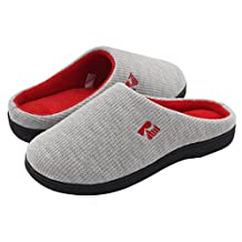 RockDove Women's Memory Foam House Slippers, Two-Tone Slip On Style w/ Indoor Outdoor Shoe Sole