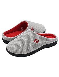 RockDove Women's Memory Foam House Slippers, Two-Tone Slip On Style w/ Indoor Outdoor Shoe Sole