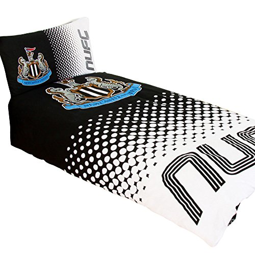 Newcastle United FC Official Fade Reversible Football Duvet Cover Bedding Set (Twin Bed) - Store Official Newcastle