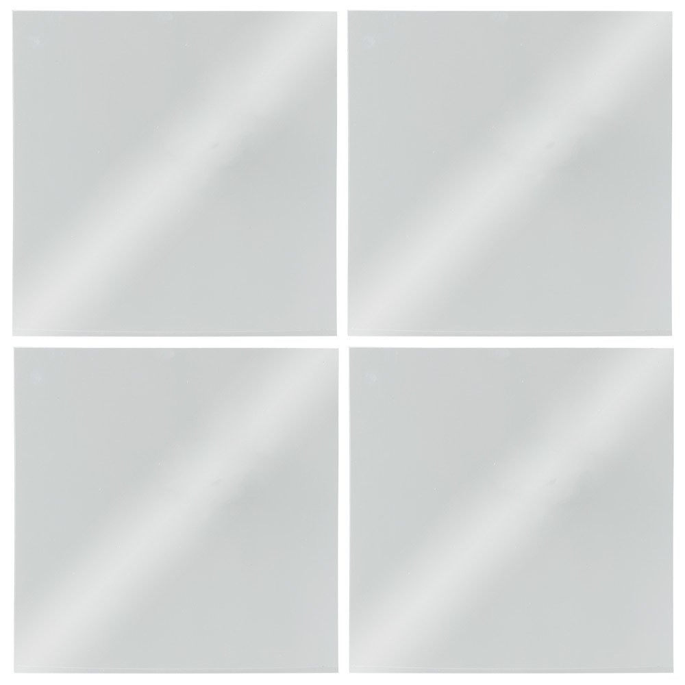 Set 4 specchi adesivi 30 x 30 cm quadrato JJA