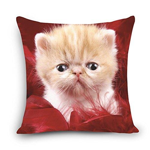 MAYUAN520 Cushion、Decorative Pillows Cushion Cover Cartoon Chair Sofa Pillow Case Creative Handsome Cute Seat Cushion Cat Shape Nap Pillow Cover Myj,450Mm450Mm,D7655