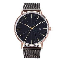 Women's Wrist Watch,Creative Embossed Meridian Student Mesh Belt Watch Lady Quartz Calendar Watchwith Date Feature