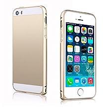 Changeshopping(TM) Luxury Slim Metal Aluminium Alloy Arc Bumper Frame Case Cover for iPhone 5 5S(Gold)