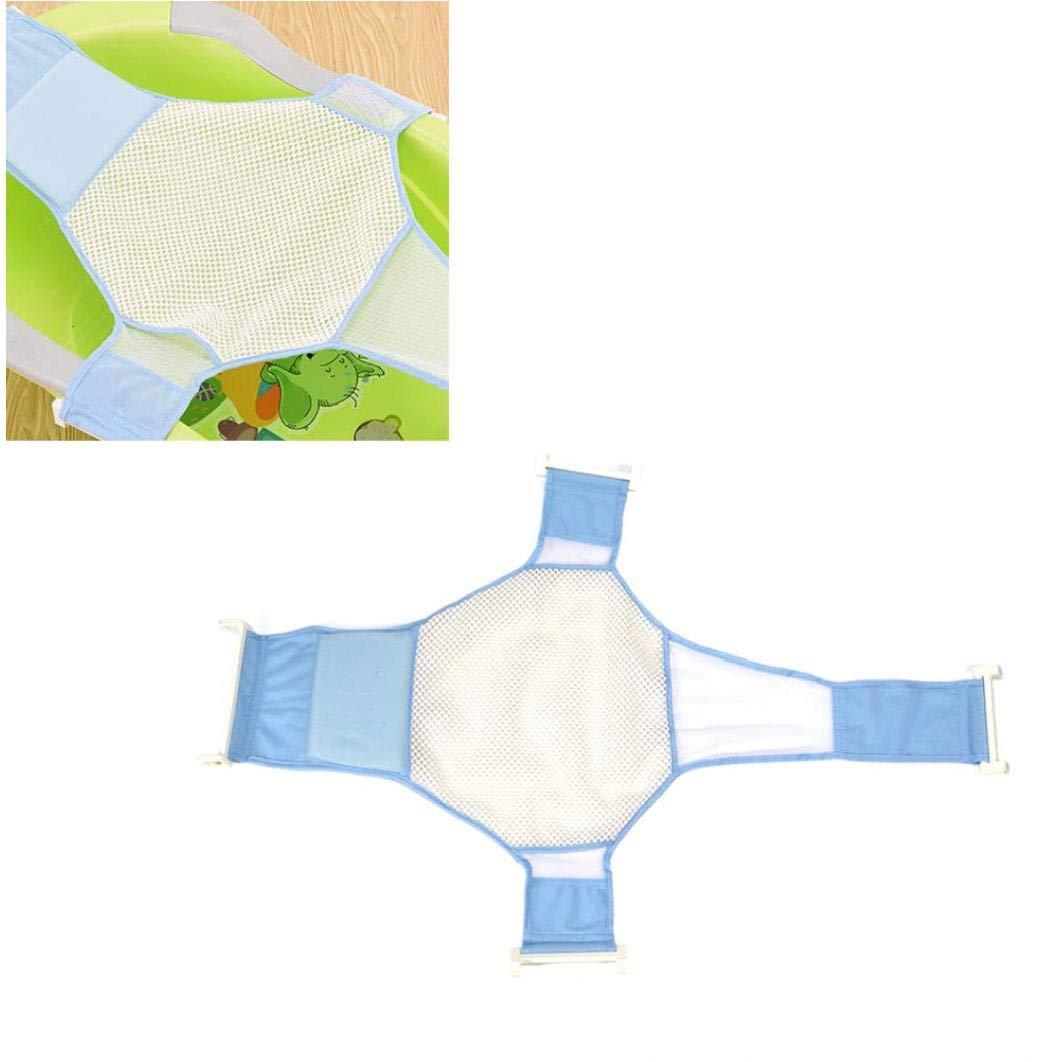 Soporte de ba/ño para beb/és infantiles del resbal/ón anti Ba/ño Ba/ñera Sling ajustable flexible reci/én nacido reci/én nacido apoyar red de malla de ba/ño Cuna