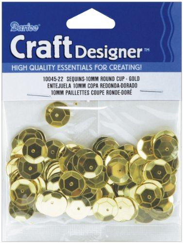 Cupped Sequins 10mm 120/Pkg-Gold