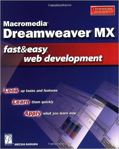 Macromedia Dreamweaver MX Fast & Easy Web Development