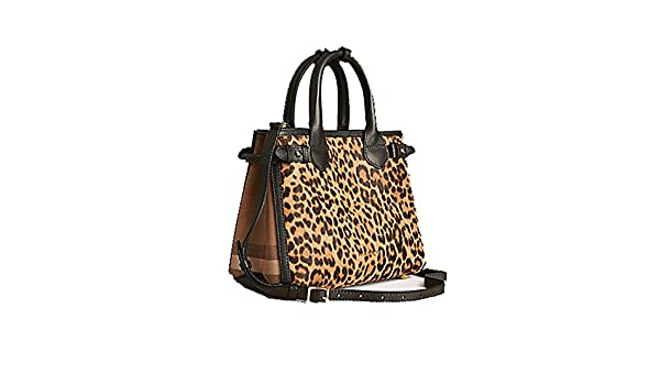 Tote Bag Handbag Authentic Burberry The Small Banner in Animal Print  Calfskin Item 39906891 Made in Italy  Handbags  Amazon.com 094d48f75c37c