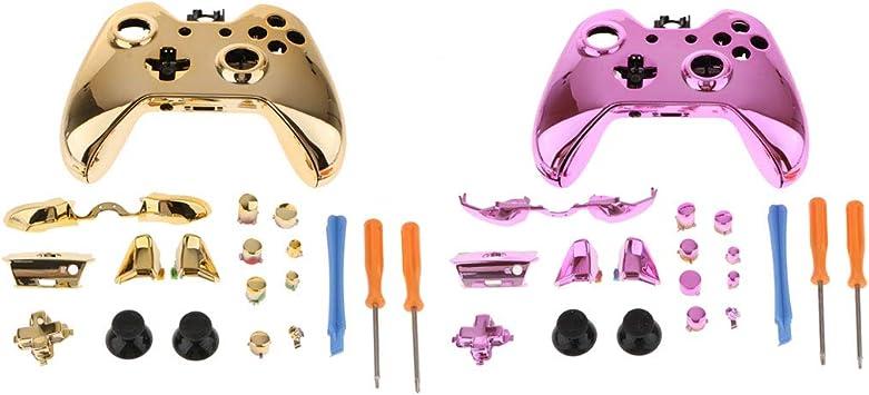 Amazon.es: Kit 2 Carcasas Completas para Microsoft Xbox One Controlador Funda Estuche Conjunto de Botones de Reemplazo Paquete + Destornillador