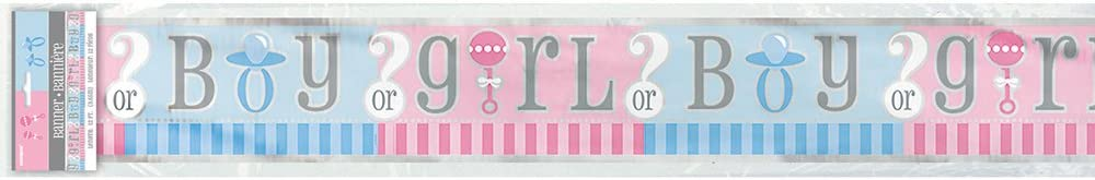 ** PINK BABY GIRL STRING DECORATIONS  6PCS 7FT LONG BABY SHOWER GENDER REVEAL