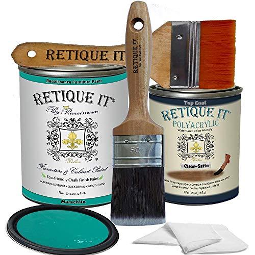 Retique It Chalk Furniture Paint by Renaissance DIY, Poly Kit, 38 Malachite, 32 Ounces
