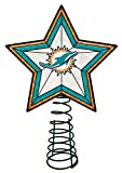 Miami Dolphins Star Christmas Tree Topper