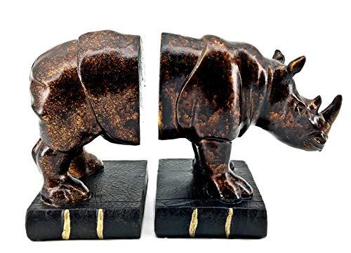 Amazon.com: Bellaa 24339 Rinocer Bookends Wildlife Animal