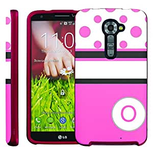 [ManiaGear] Design Graphic Image Shell Cover Hard Case (Hot Pink Dots Initial O) for LG G2 VS980 Verizon