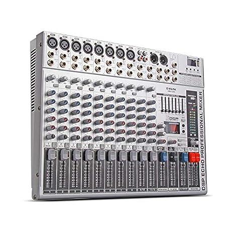 Amazon.com: G-MARK GMX1200 Mezclador Profesional Consola de ...