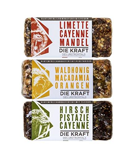 Energie Riegel - herzhaft, vegan, vegetarisch (Bio, Zucker- & Glutenfrei) I Survivalpaket 6 Riegel x 50g