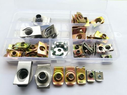 45pcs M4 M5 M6 M8 M10 Open Stretch Nuts Cabinet Cage Plyw...