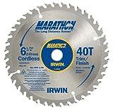 "5 Pack Irwin 14023 6-1/2"" x 40 Tooth Marathon Cordless Circular Saw Blades"