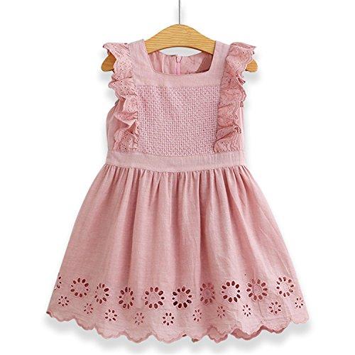 (Doris Batchelor Elegant Summer Baby Girls Tassel Hollow Out Children Lace Dress for Girls Birthday Party Dress Kids)