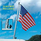 Taylor Made Products Stainless Steel Boat Flag Pole Kit (18-Inch)