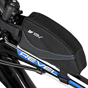 BV Bicycle Top Tube Bag with Concealed Quick Access Opening