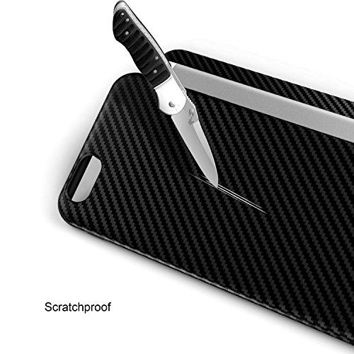 ARTLU® Coque Iphone 6S, Housse Coque antichoc en TPU avec grip en fibre de carbone motif arrière pour Apple iPhone 6 (2014) & 6S (2015), grip en fibre de carbone, plastique, noir, iPhone 6 & 6s