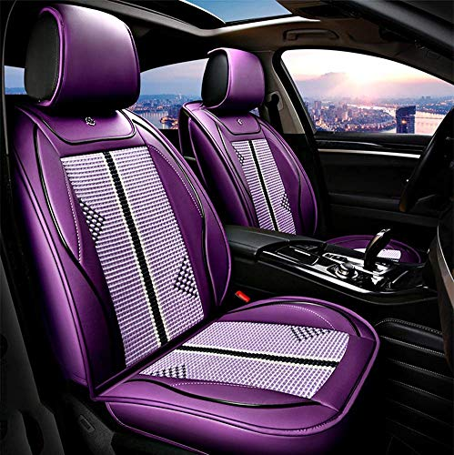 Tcbz PU Leather Ice-Silk Car Seat Cover- Anti-Slip Suede Backing Universal Fit Car Seat Cushion for Both Fabric And Leather Car Seats,Black,Purple: Amazon.co.uk: Sports & Outdoors
