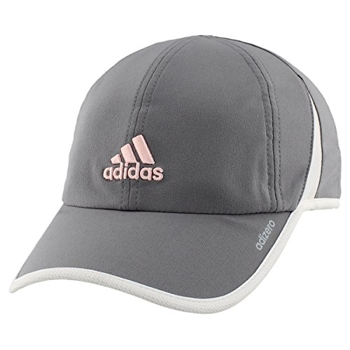 adidas Women's Adizero II Cap, Grey/White/Hawthorne Pink, One (Womens Adjustable Slouch Cap)