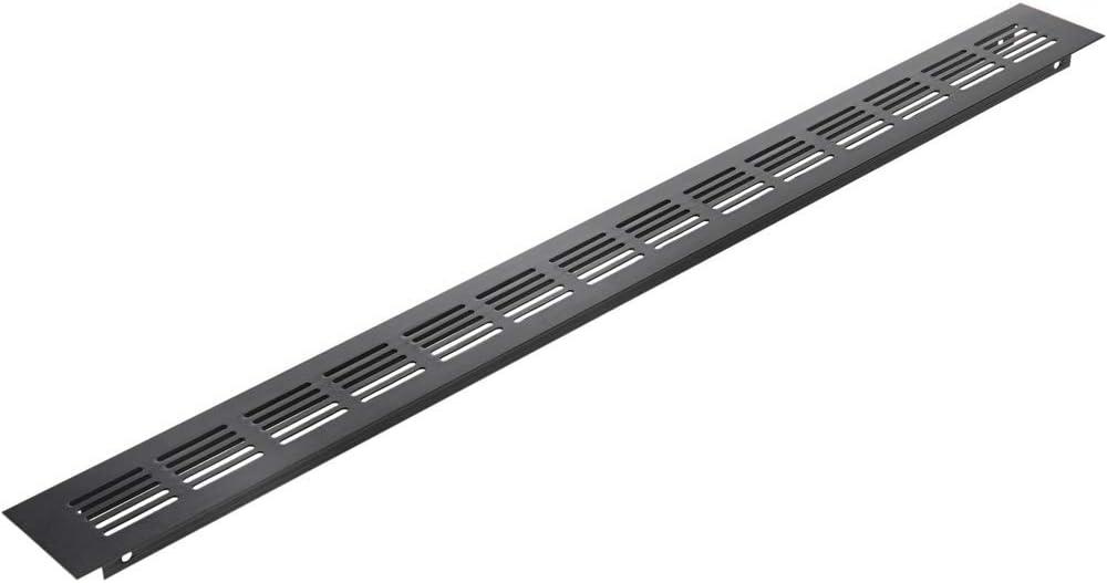PrimeMatik - Rejilla de ventilación para zócalo Aluminio 550x50mm en Color Negro