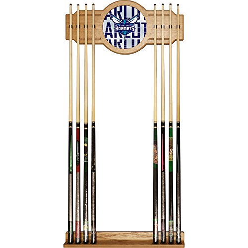 Trademark Gameroom NBA6000-CH3 NBA Cue Rack with Mirror - City - Charlotte Hornets by Trademark Global